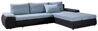 SEDEŽNA GARNITURA,  antracit, modra tekstil - modra/črna, Design, tekstil (310/210cm) - Boxxx