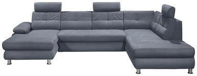 WOHNLANDSCHAFT in Textil Grau  - Silberfarben/Grau, MODERN, Kunststoff/Textil (177/349/233cm) - Carryhome