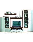 DNEVNI REGAL,  bela, hrast  - bela/hrast, Design, umetna masa/steklo (285/198/50cm) - Xora
