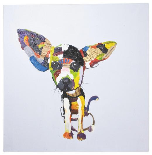 Tiere ÖLGEMÄLDE - Multicolor, Design, Textil (100/100/4cm) - Kare-Design