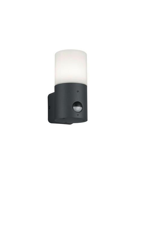 AUßENWANDLEUCHTE Anthrazit, Weiß - Anthrazit/Weiß, Natur, Kunststoff/Metall (17,5/8,5/11,8cm)