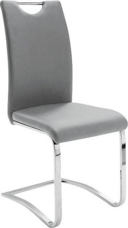SCHWINGSTUHL Lederlook Grau - Chromfarben/Grau, Design, Textil/Metall (43/100/57cm) - Carryhome
