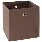 FALTBOX Metall, Textil, Karton Braun, Silberfarben  - Silberfarben/Braun, Design, Karton/Textil (32/32/32cm) - Carryhome