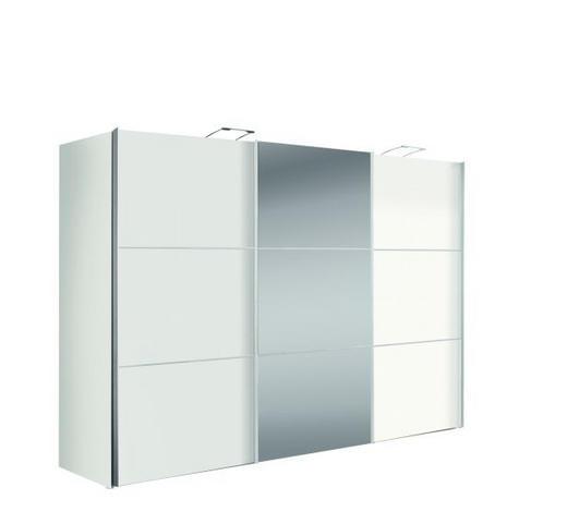 SKŘÍŇ S POSUVNÝMI DVEŘMI, bílá - bílá/barvy hliníku, Design, kov/kompozitní dřevo (300/216/68cm)
