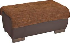HOCKER in Textil Braun, Orange  - Wengefarben/Braun, Design, Holz/Textil (98/43/66cm) - Carryhome