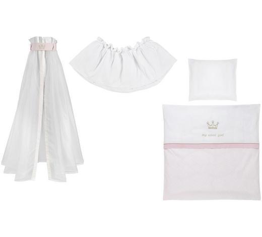 STUBENWAGENSET My sweet girl  - Rosa/Weiß, Basics, Textil - Patinio