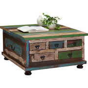 KONFERENČNÍ STOLEK - Multicolor/hnědá, Design, dřevo/kompozitní dřevo (88/88/47cm) - Carryhome