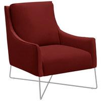 SESSEL in Leder Rot  - Chromfarben/Rot, Design, Leder/Metall (69/84/89cm) - Natuzzi Editions
