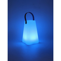 LED-LAMPE IRIS - Weiß, Design, Kunststoff (12/12/20cm)