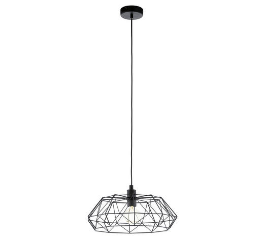 HÄNGELEUCHTE - Schwarz, Design, Metall (45,5/110cm)