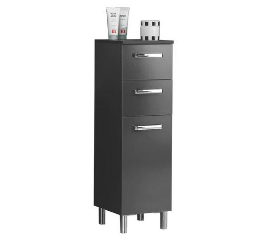 UNTERSCHRANK Anthrazit  - Anthrazit/Silberfarben, KONVENTIONELL, Holzwerkstoff/Metall (30/100.5/33cm) - Carryhome