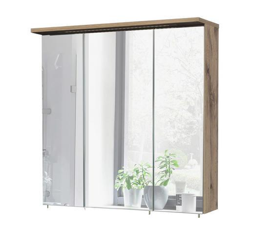 SPIEGELSCHRANK Eichefarben  - Eichefarben, Basics, Glas/Holzwerkstoff (70,5/72,3/15,75-23,7cm) - Stylife
