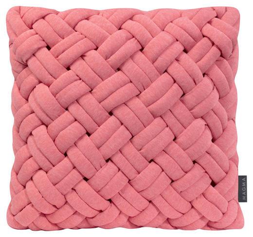 KISSENHÜLLE Hellrot, Rosa - Hellrot/Rosa, Textil (40/40cm)