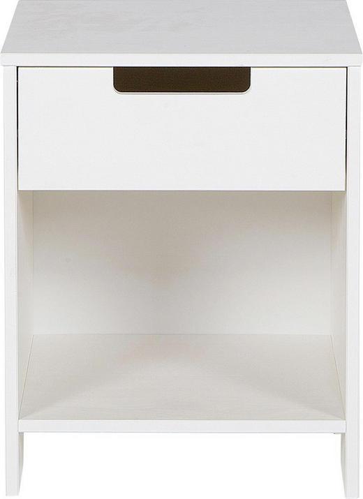 NACHTKÄSTCHEN Kiefer massiv lackiert Weiß - Weiß, LIFESTYLE, Holz (40/52/33cm) - Carryhome