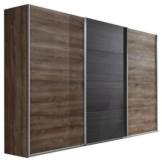 SCHWEBETÜRENSCHRANK 3-türig Eichefarben - Eichefarben/Alufarben, Design, Holzwerkstoff/Metall (270/210/65cm) - Carryhome