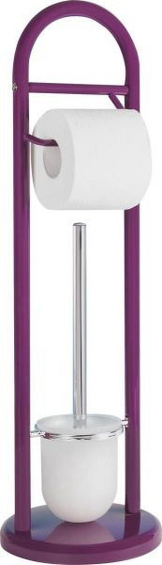 WC-BÜRSTENGARNITUR - Chromfarben/Lila, Basics, Kunststoff (19/63cm)