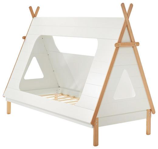 SPIELBETT Pinie massiv 90/200 cm Pinienfarben, Weiß - Weiß/Pinienfarben, Design, Holz (90/200cm) - Xora