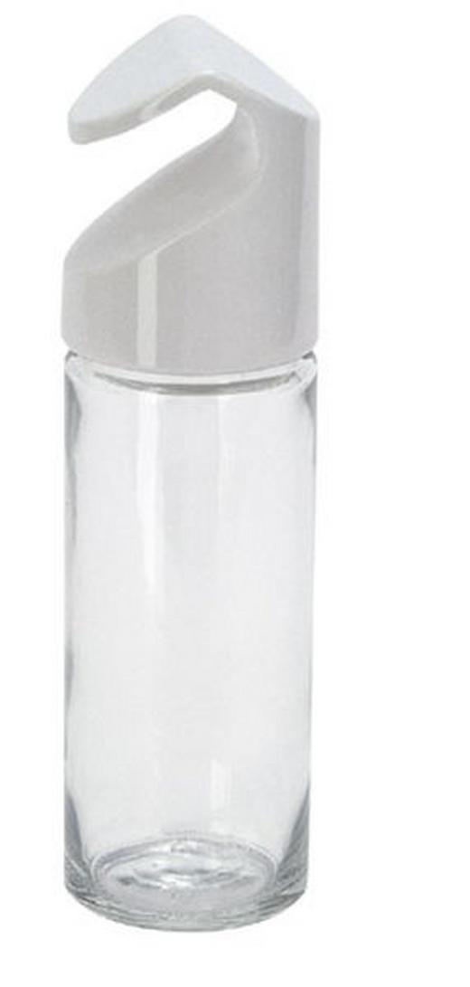 GEWÜRZGLAS - Weiß, KONVENTIONELL, Glas/Kunststoff (4/4/14cm) - Emsa