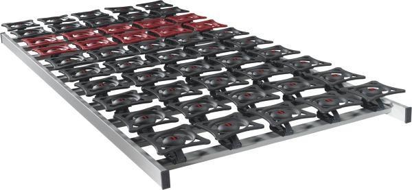 LATTENROST90/200 cm,Schichtholz - Dunkelbraun/Dunkelrot, Basics, Kunststoff (90/200cm) - SLEEPTEX