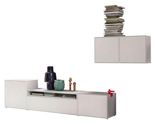 WOHNWAND Weiß - Weiß, Design (308/156/44,8cm) - Hülsta - Now
