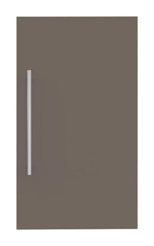 TÜR 45/78/2 cm Braun - Edelstahlfarben/Braun, Design, Metall (45/78/2cm) - Welnova