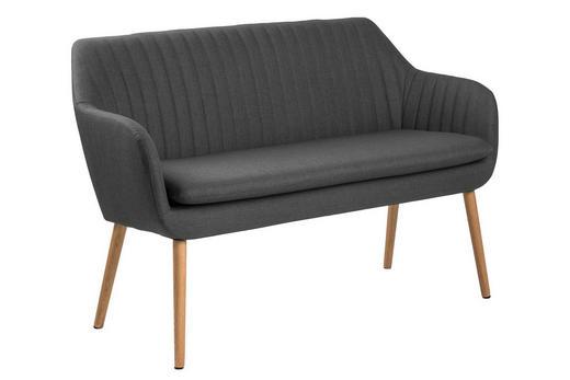 SITZBANK - Eichefarben/Dunkelgrau, LIFESTYLE, Holz/Textil (130/85/62cm) - Carryhome