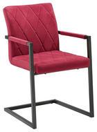 SCHWINGSTUHL Samt Rot, Schwarz - Rot/Schwarz, LIFESTYLE, Kunststoff/Textil (53,50/87/60cm) - Xora
