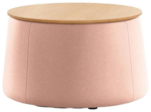 HOCKER Eiche Eichefarben, Rosa - Eichefarben/Rosa, Design, Holz/Textil (77/43cm) - Innovation
