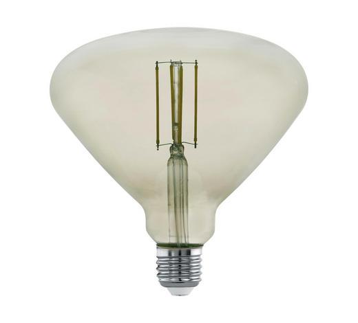 LED ŽÁROVKA - černá, Basics, sklo (16cm)