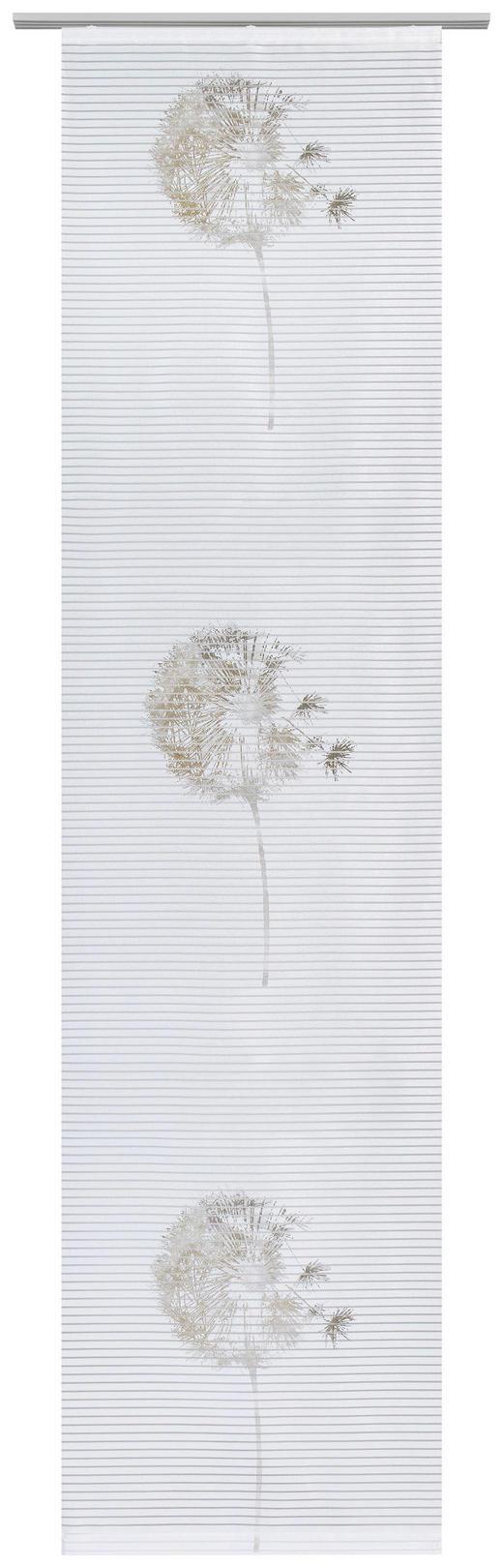 FLÄCHENVORHANG   halbtransparent   60/245 cm - Taupe/Weiß, Design, Textil (60/245cm) - Novel