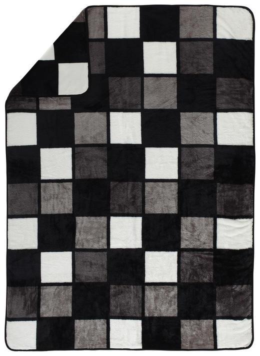 WOHNDECKE 150/200 cm Grau, Schwarz, Weiß - Schwarz/Weiß, Design, Textil (150/200cm) - Novel