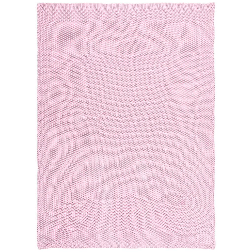 Image of Avelia Kuscheldecke 80/100 cm , Strickdecke , Rosa , Textil , Struktur , 80 cm , Struktur , atmungsaktiv , 003969004502