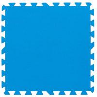 POOLMATTE, 8-TLG Blau - Blau, Basics, Kunststoff (50/50cm)