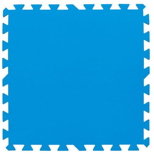 POOLMATTE, 8-TLG 50/50 cm Blau - Blau, Basics, Kunststoff (50/50cm)