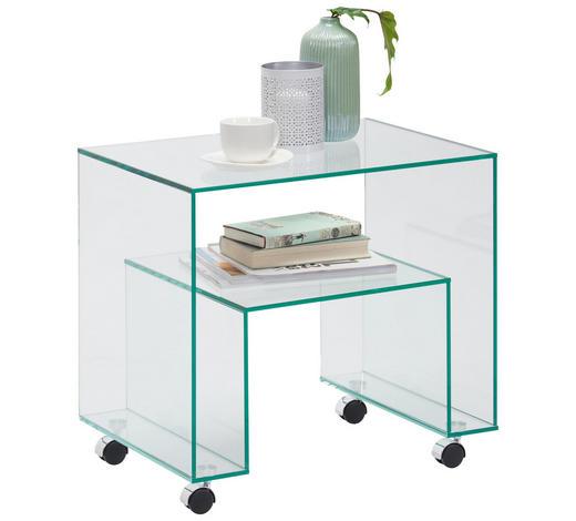 BEISTELLTISCH in - Design, Glas (56/52/40cm) - Xora