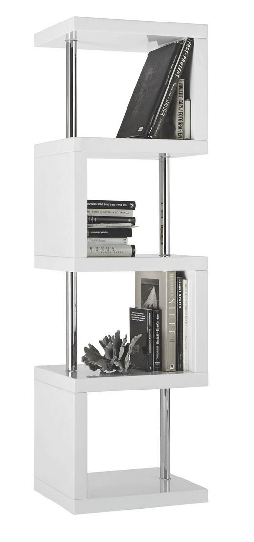 REGAL Chromfarben, Weiß - Chromfarben/Weiß, Design, Metall (50/167/45cm) - XORA
