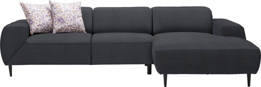 WOHNLANDSCHAFT in Textil Grau - Multicolor/Schwarz, Basics, Textil/Metall (292/170cm) - Dieter Knoll