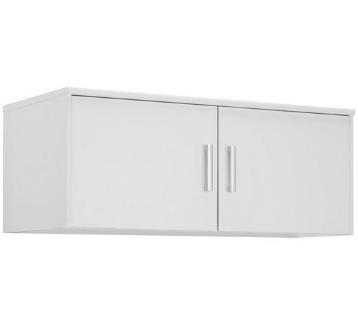 NÁSTAVEC NA SKŘÍŇ, bílá - bílá/barvy stříbra, Konvenční, kov/kompozitní dřevo (106/43/54cm) - Xora