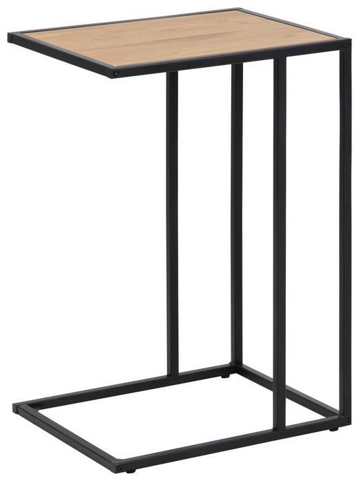 BEISTELLTISCH in Schwarz, Eichefarben - Eichefarben/Schwarz, Trend, Holzwerkstoff/Metall (43,0/63,0/35,0cm) - Carryhome