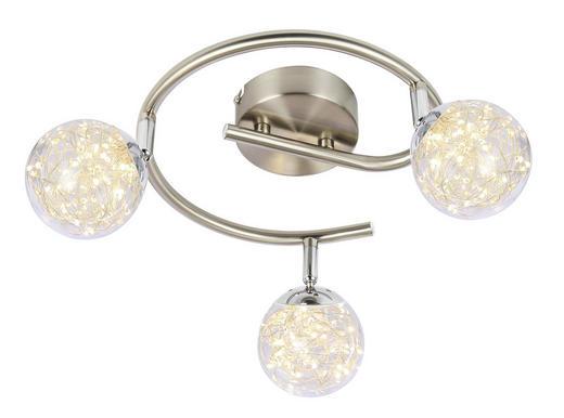 LED-STRAHLER - Klar, MODERN, Glas/Metall (25/19,5cm)