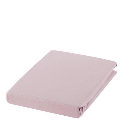 SPANNBETTTUCH Zwirn-Jersey Lila bügelfrei, für Wasserbetten geeignet - Lila, Basics, Textil (150/200cm) - ESTELLA