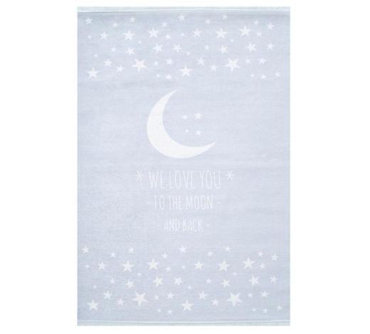 KINDERTEPPICH  100/160 cm  Weiß, Hellblau   - Weiß/Hellblau, Basics, Textil (100/160cm)