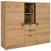 HIGHBOARD 160/144/43 cm - Eichefarben/Anthrazit, KONVENTIONELL, Holz/Metall (160/144/43cm) - Venjakob