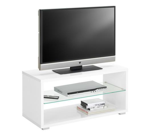 TV-ELEMENT 92/45/39 cm  - Alufarben/Weiß, Design, Glas/Holzwerkstoff (92/45/39cm) - Boxxx