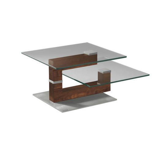 Couchtisch In Glas Holz Metall 93 129 70 41 Cm Online Kaufen