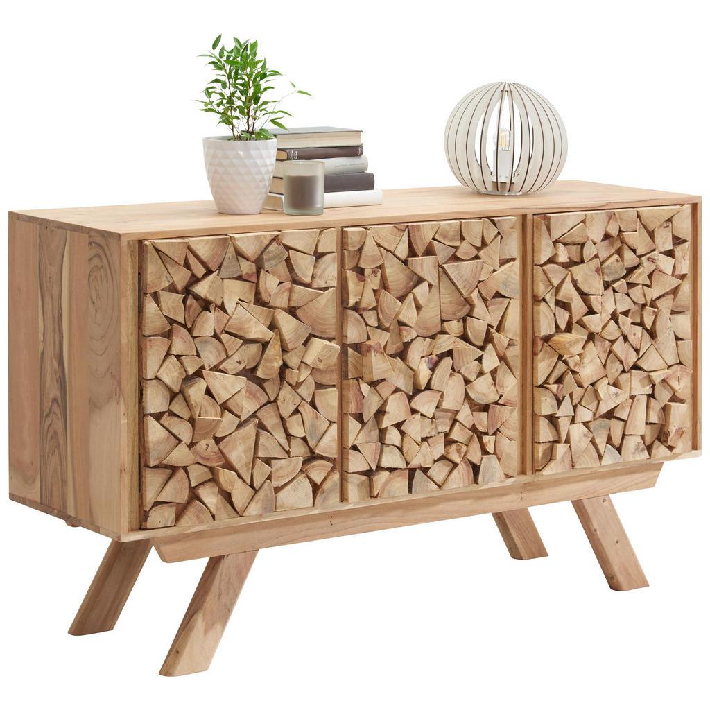 Akazienholz-Kommode im rustikalen Design
