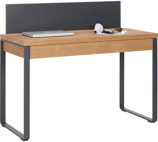 SEKRETÄR in Holz, Metall 120/101/55 cm  - Eichefarben/Anthrazit, Natur, Holz/Metall (120/101/55cm) - Valnatura