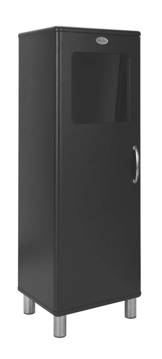 HIGHBOARD lackiert, Melamin Schwarz - Schwarz/Nickelfarben, Design, Holzwerkstoff/Metall (50/143/41cm) - CARRYHOME