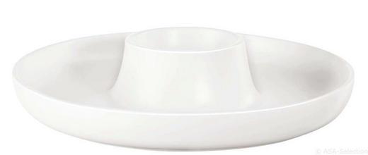 DIPSCHALE Keramik - Weiß, Design, Keramik (30/10,5cm) - ASA