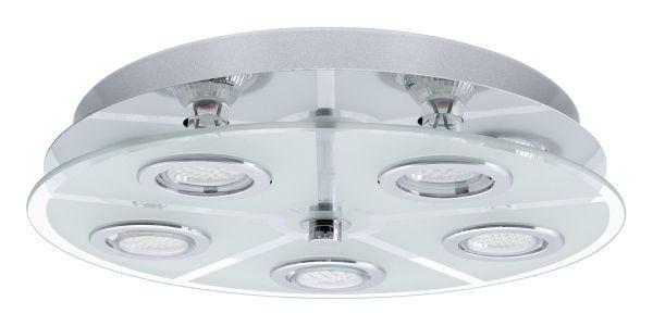 LED-DECKENLEUCHTE - Chromfarben, Design (35cm)